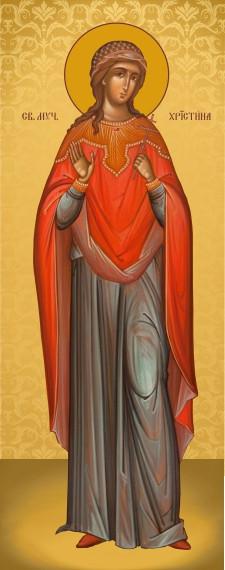 Ікона з росписом Свята Христина