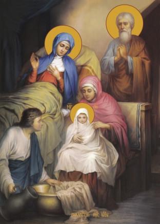 Ікона на замовлення Різдво  Богородиці