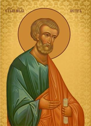 Ікона з росписом Святий Петро