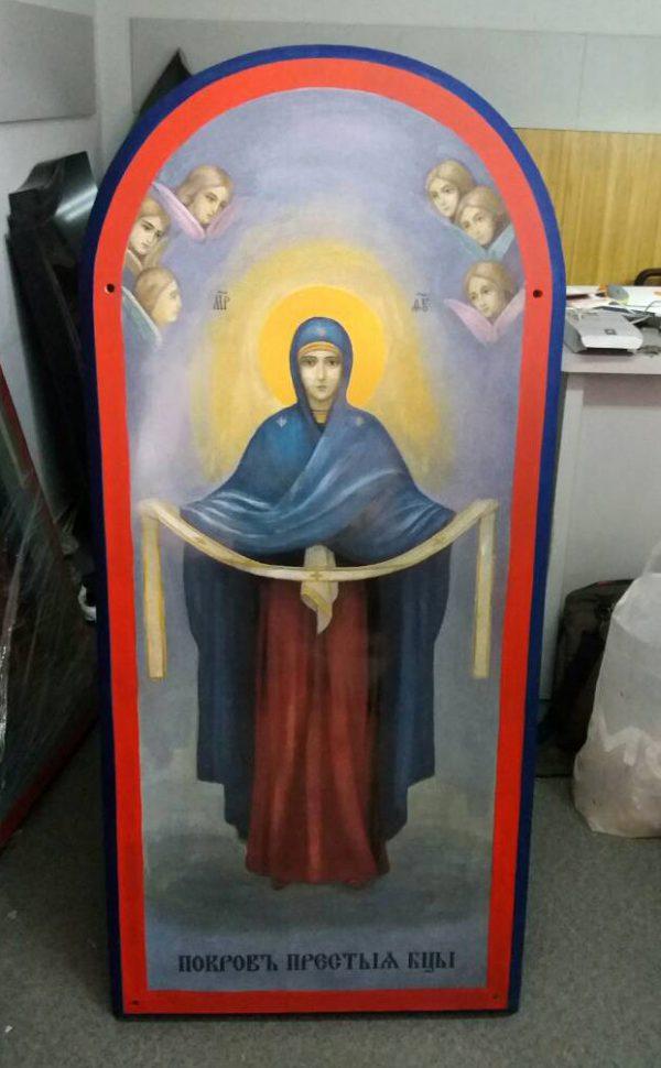 Икона Покровы Пресвятой Богородицы ростовая