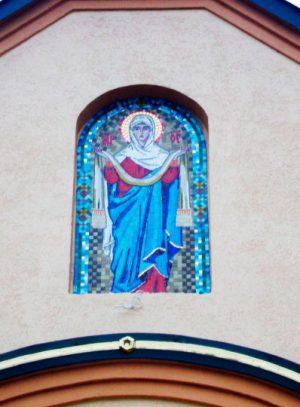 Икона Пресвятой Богородицы из мозаики Покрова