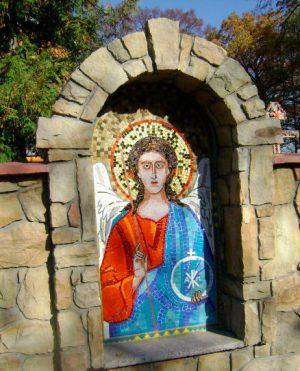 Арочные иконы из мозаики на заказ