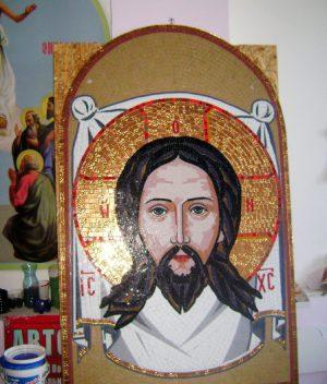 Икона Спаса большая из мозаики