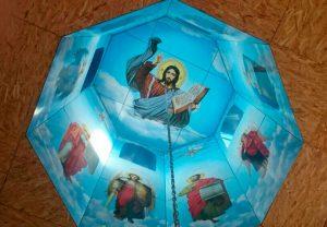 Ламинированные Иконы на пластике в своде храма