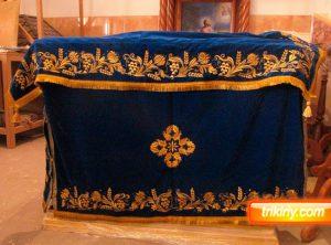 Комплект скатерти и чехла на престол габардиновый
