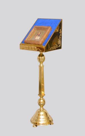 Подставка под икону выносная латунная