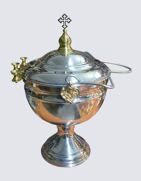 Чаша водосвятная из никеля на 5 литров