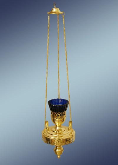 Лампада подвесная церковная из латуни