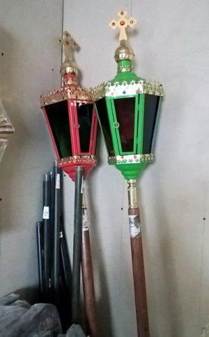 Пасхальные фонари разных цветов