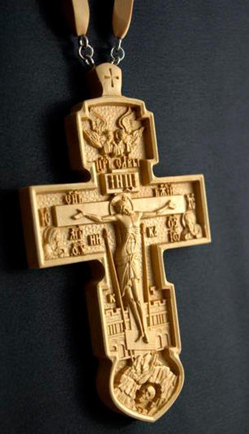 Крест иерейский 120х70мм из груши