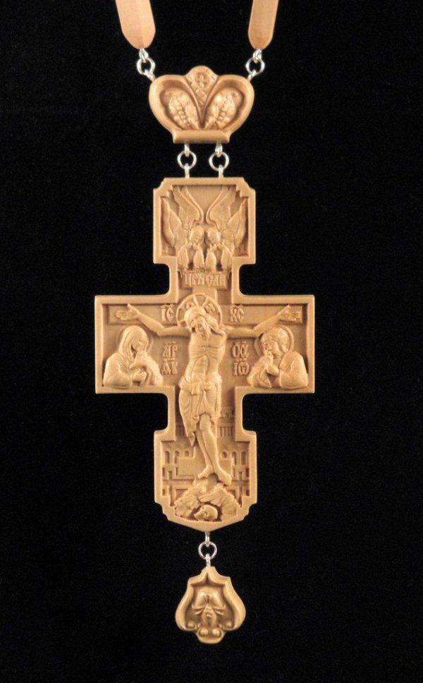 Заказать Крест наградной 100х65мм из груши