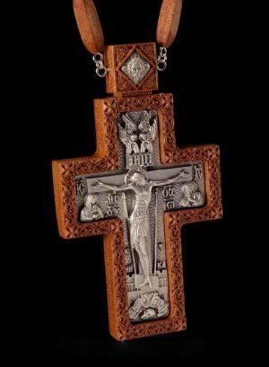 Крест наградный из красного дерева 12х7см