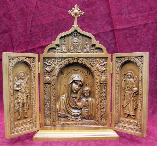 Складень Пресвятая Богородица Казанская (груша)
