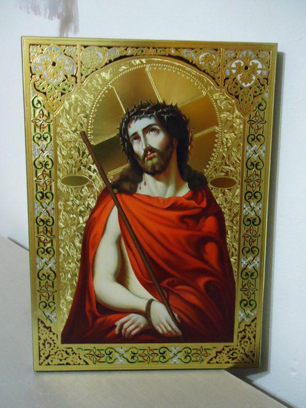 Икона Спас в терновом венце (сусальное золото)